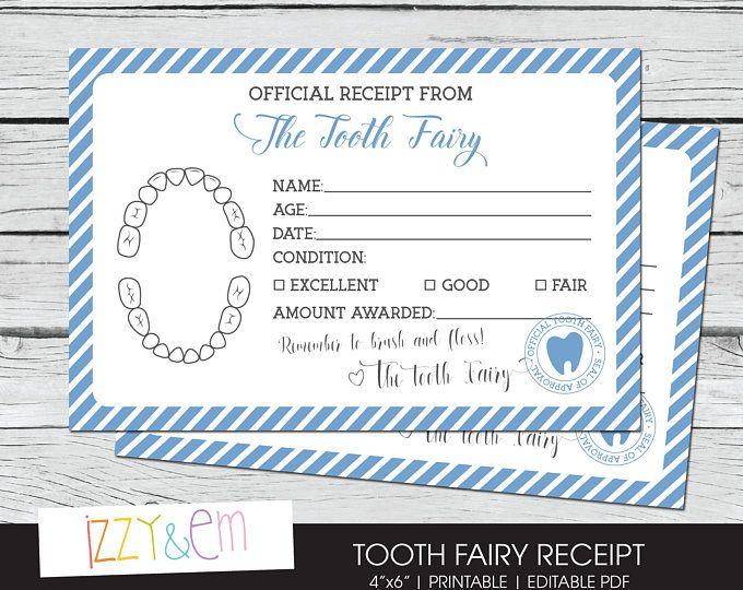 Tooth Fairy Note Boys Tooth Fairy Receipt Printable Tooth Fairy Report Lost Tooth Records Tooth Tooth Fairy Certificate Tooth Fairy Receipt Tooth Fairy