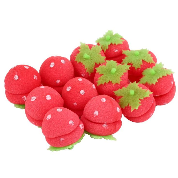 12 pcs Rollers Curlers Strawberry Balls Hair Care Soft Sponge Lovely DIY Tool Wholesale