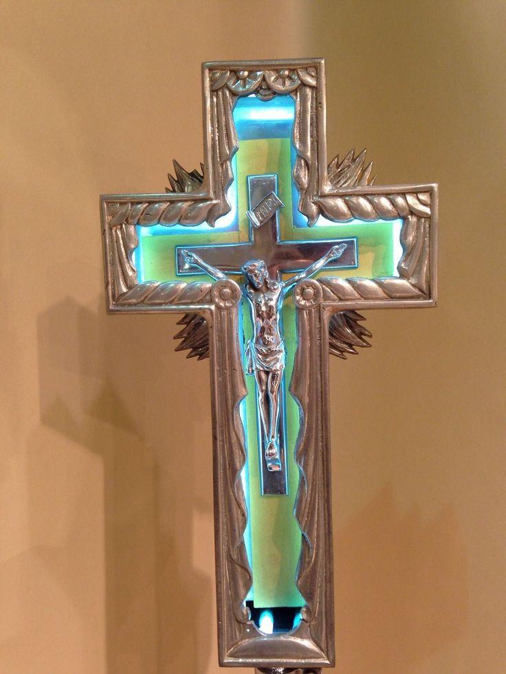 Vintage Neon Jesus Crucifix Cross Sign Deco 20 S 30 S Rare