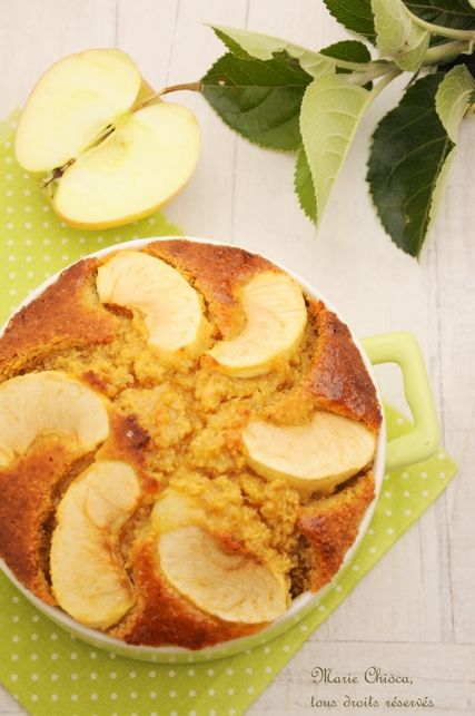 Le moelleux pomme-citron au son d'avoine et sirop d'agave  (Recette à IG bas) de Marie Chioca  Testė avec 2 cc de cannelle. A faire dans un petit moule ou un peu moins de cuisson.