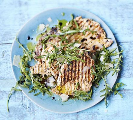 Paillard of chicken with lemon & herbs. Pounding meat until thin and flat is a great technique for barbecued chicken breast, as it ensures it won't dry out. Try this version with lemon and herbs.