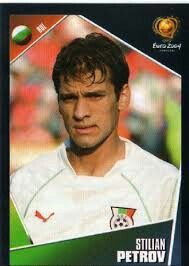Stilian Petrov of Bulgaria. Euro 2004 card.