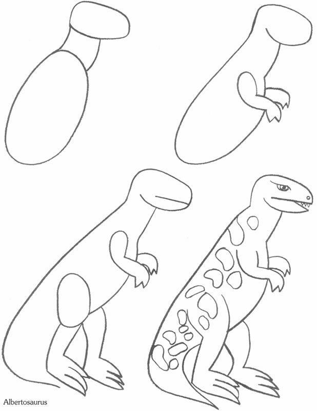 Dino tekenen