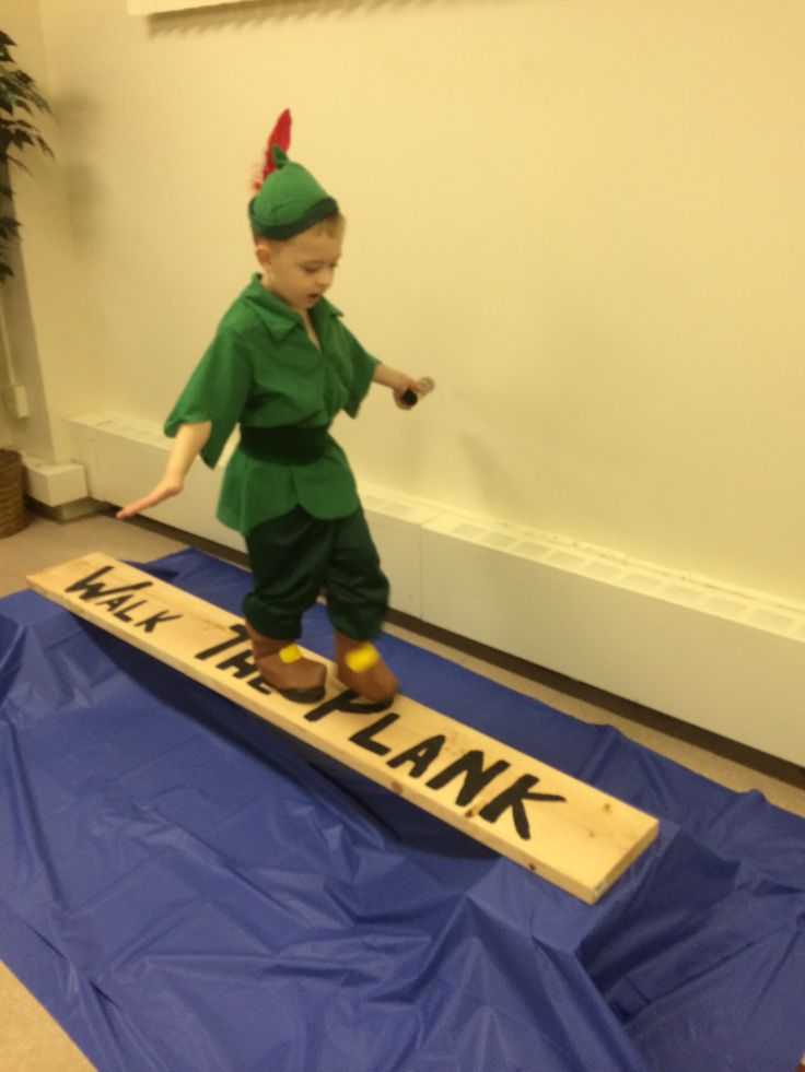 Walk the Plank game -- Peter Pan party