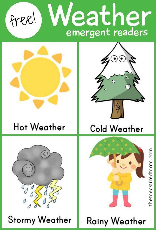 weather emergent readers early ed science sensory preschool weather teaching weather. Black Bedroom Furniture Sets. Home Design Ideas