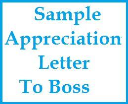 Appreciation Messages : Appreciation Letter to Boss
