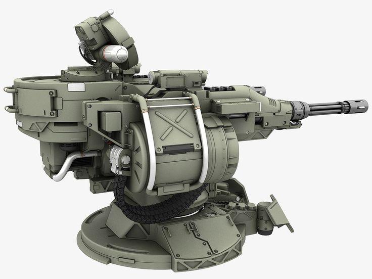 3d guns turret