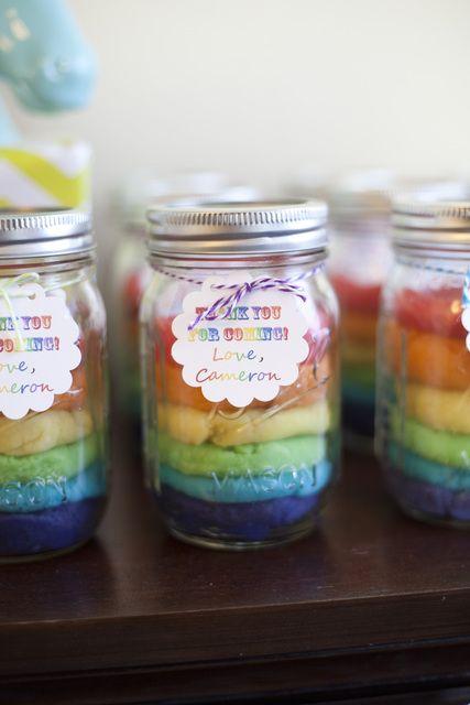 Favors at a Rainbow Unicorn Party #rainbow #partyfavors