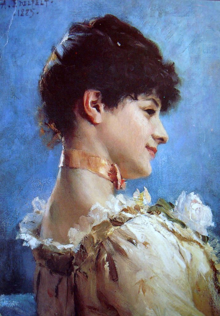 The Athenaeum - Brunette (Albert Edelfelt - )