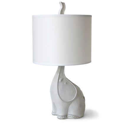 Elephant lamp for nursery