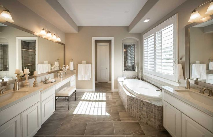 61 best images about master bathrooms on pinterest home for Pictures of master bathrooms in new homes