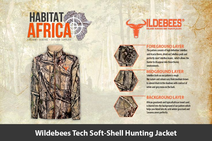 The Wildebees Tech Soft-Shell Hunting Jacket has a bonded micro polar-fleece…