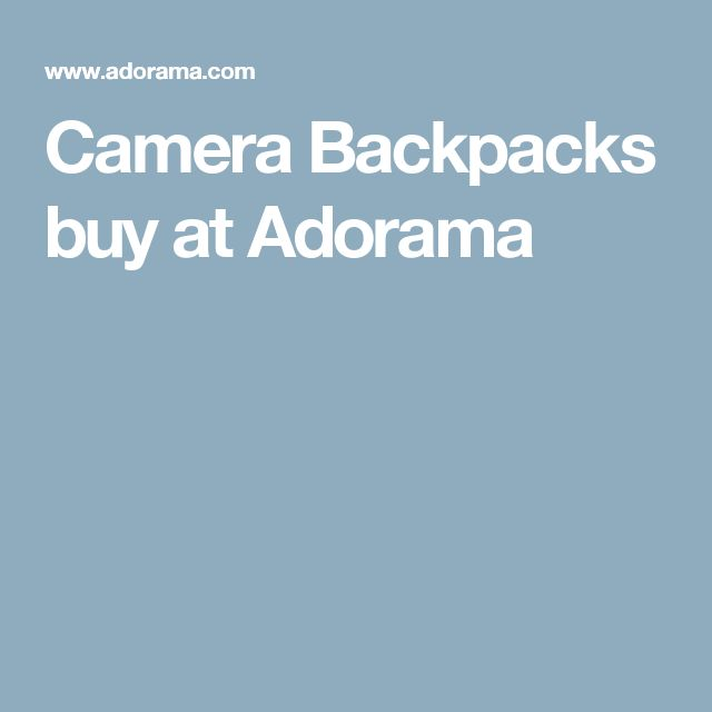 Camera Backpacks buy at Adorama