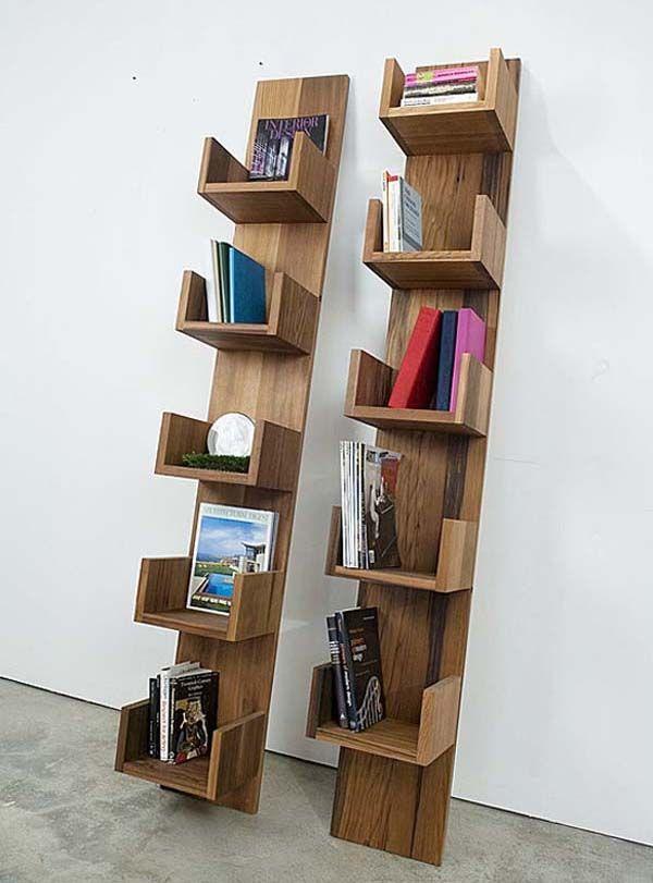 Bookshelves made of Reclaimed Redwood by Deger Cengiz
