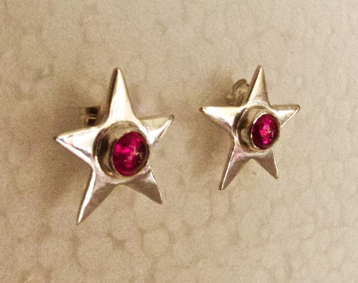 A personal favourite from my Etsy shop https://www.etsy.com/au/listing/254197983/silver-star-stud-earrings-with-created