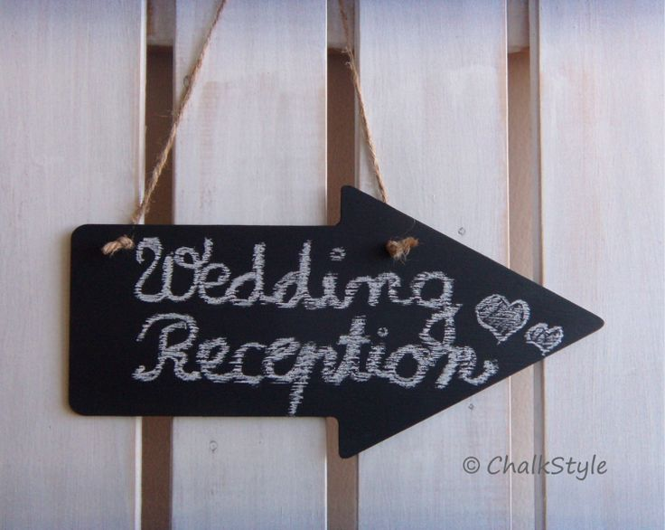 2 Large CHALKBOARD Arrow Signs Wedding Decor by ChalkStyle on Etsy, $18.95
