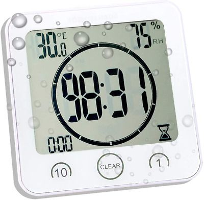 Details About Waterproof Bathroom Clock And Timer For Shower