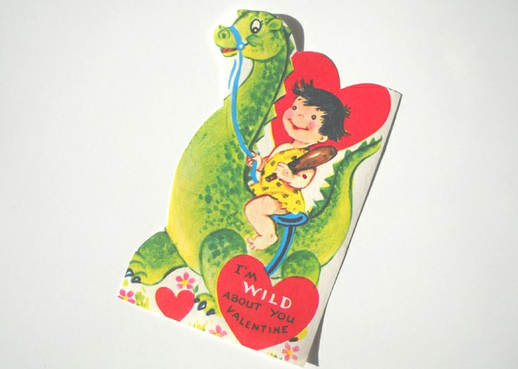 Valentine S Day Vintage Toys : Best images about vintage valentine cards cavemen