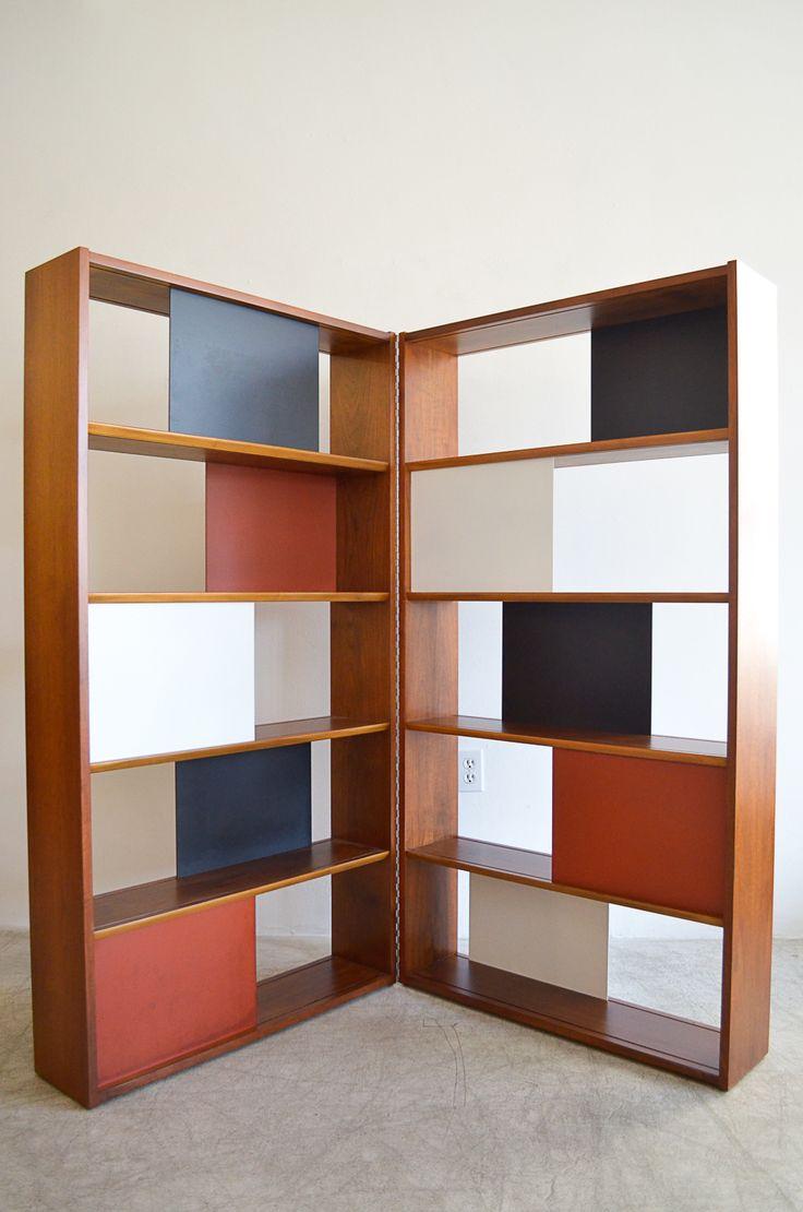 sold room divider or hinged bookcase by evans clark for glenn of california the modern vault