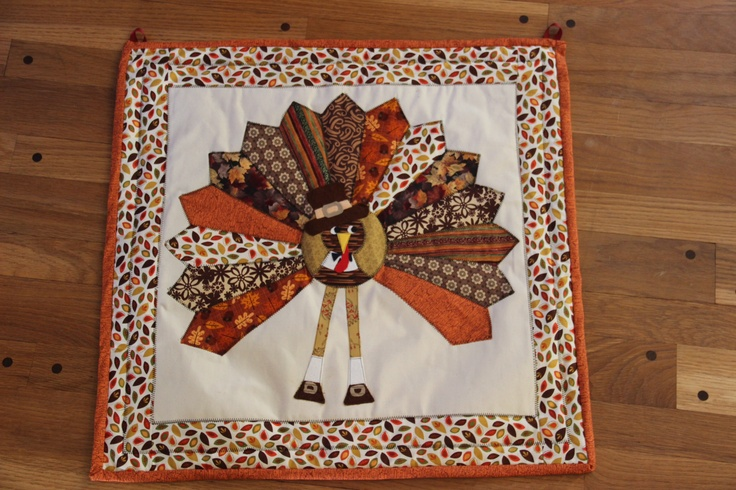 Thanksgiving wallhanging Mini quilt, Wall hanging