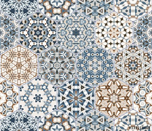 Eastern seamless pattern tiles