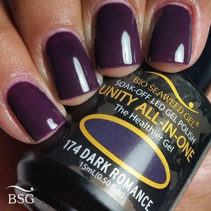 UNITY All-In-One Colour Gel Polish - 174 Dark Romance   Bio Seaweed Gel Canada