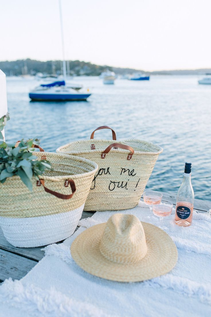 Embrace summer the rosé way with these DIY embroidered picnic totes