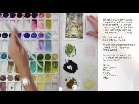 How to Paint Using Watercolor Techniques by Jody Bergsma (Frogs) - YouTube
