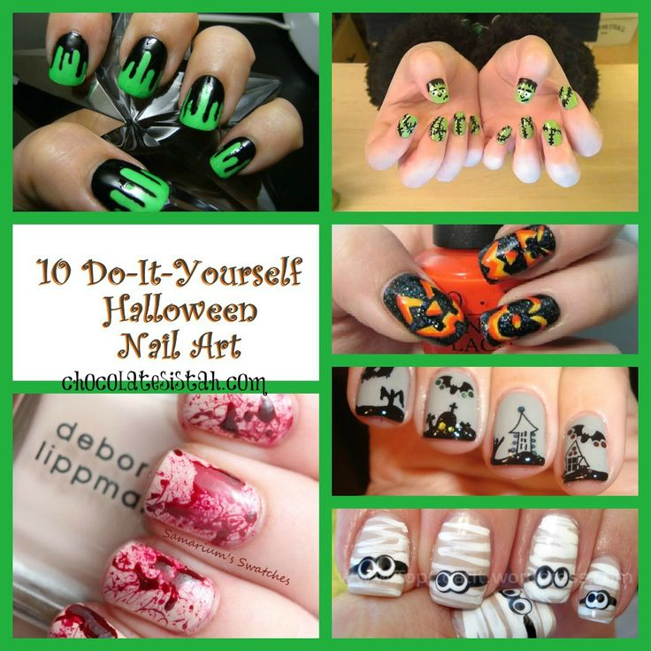 10 DIY Halloween Nail Art. . .I really want to try this blood splatter one