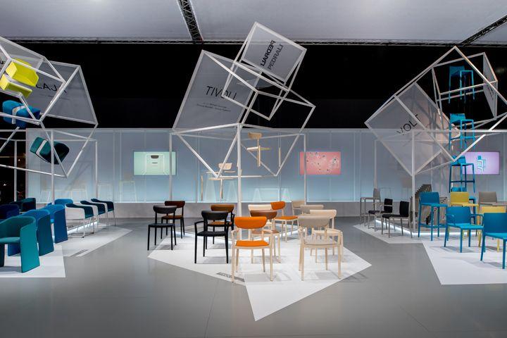 Pedrali Stand at Salone del Mobile 2014 by Migliore+Servetto Architects, Milan exhibit design