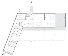 Plano de la planta de la casa de madera en Nueva Zelanda