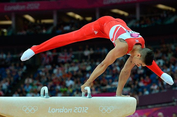 Great Britain's gymnast bronze medallist Louis Smith