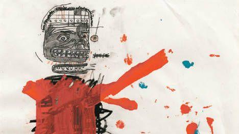 """#Basquiat & #Warhol (couple?), Jenny #Holzer, Barbara #Kruger, Nan #Goldin y Larry Clark, Malba """"Bye Bye American Pie"""" –el título de la muestra es el de la canción americana del 71´, de Don Mc Lean, que refiere al final de la edad dorada estadounidense luego de la #WW2. Chau, postre típico de las familias estadounidenses y reglamentario del ejército americano. Chau, dulzura. Limitar actuar en contra tuyo, dormís con personas que odiás. No lo suficientemente cruel, hombre, bello,  patético"""