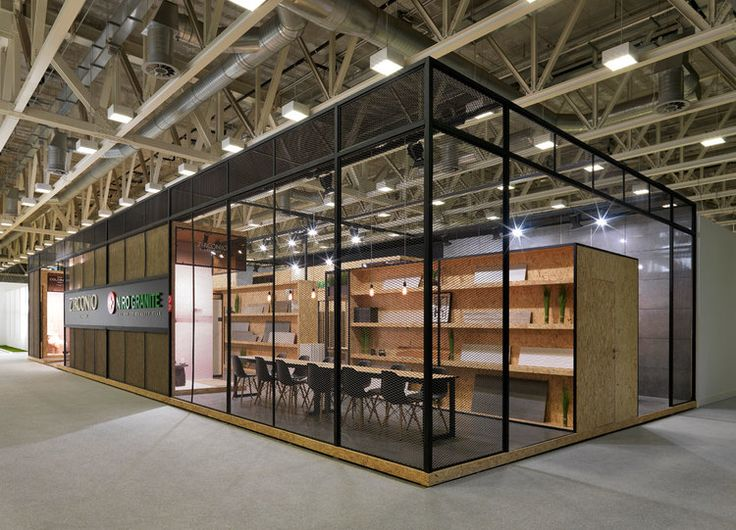 Zirconio + Niro Granite stand at Cersaie 2014 Design by VXLAB Branding & Design Direction www.vxlab.org