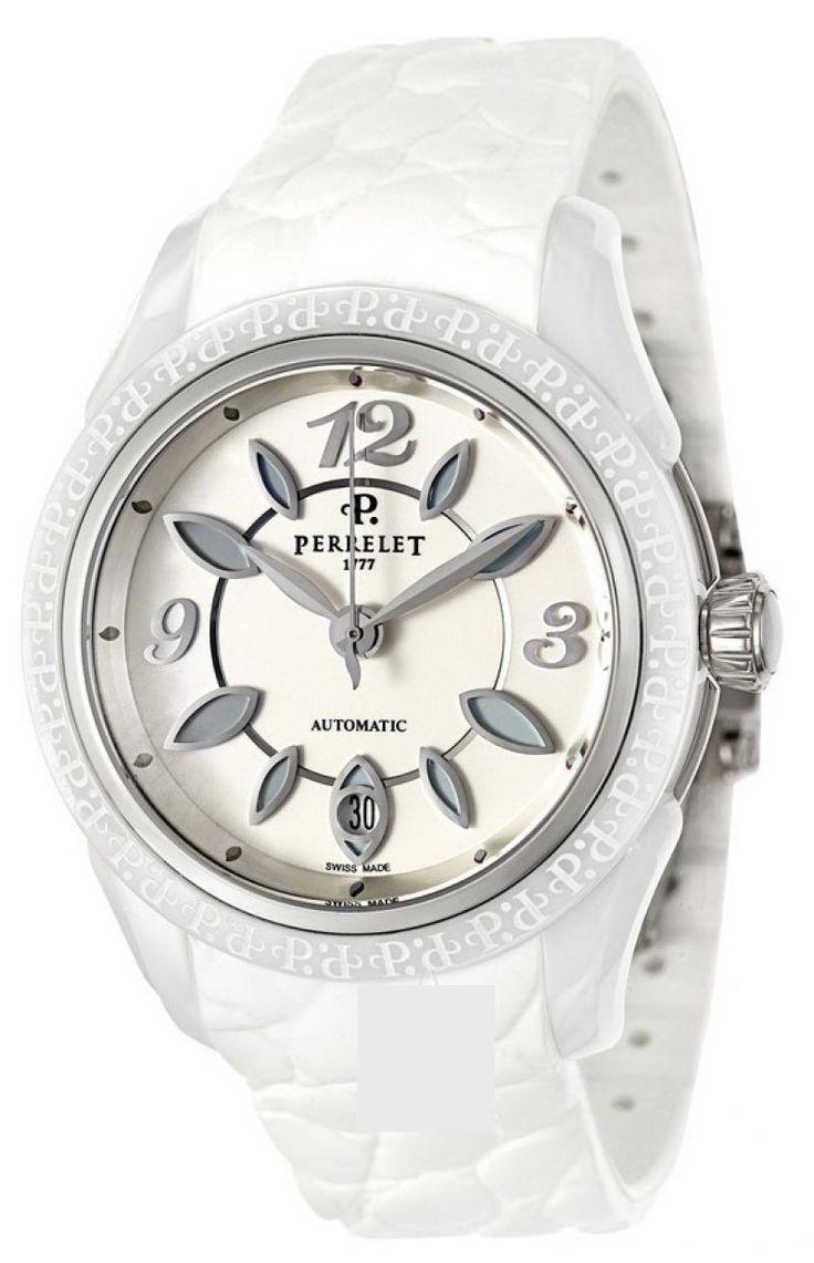 Женские часы Perrelet А2041/1 Classic Eve - белые - швейцарские женские наручные часы