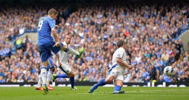MATCH REPORT: CHELSEA 2 EVERTON 1 Posted on: Sun 19 May 2013  Summary Third place in the Barclays Premier League was safely secured by goals from our two topscorers for the season, Chelsea Player of the Year Juan Mata finding the net early in the first half with Fernando Torres scoring the winner with a sharp finish with quarter of an hour left to play.