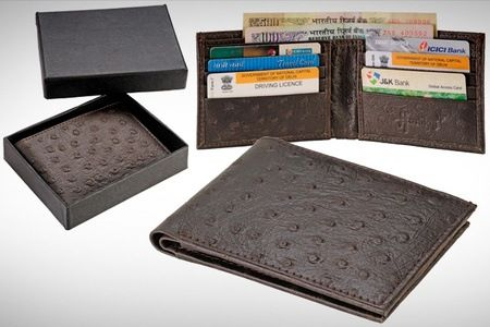 Buy Hashtag Dark Brown Ostrich Wallet at Rs. 599 only. Offer is on a Dark Brown Ostrich Wallet Features: Made of Leather Compact and stylish Detailed with multiple slots Free delivery across India Inclusive of all taxes and service charges