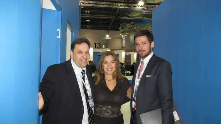 Tassos and Panos from GNTO UK with Mandy Kalliontzi of Aldemar Resorts