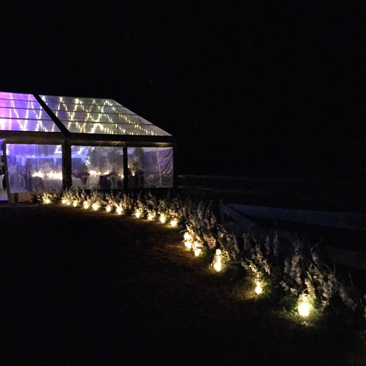 Night Time Clear Marquee, candlelight, candles, winter wedding