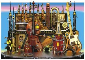 Anatolian 1500 Parça Puzzle - Müzik Kalesi
