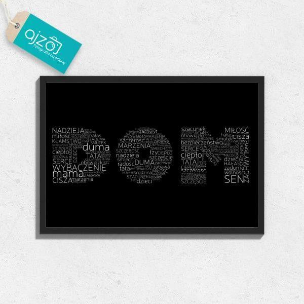 Plakat w ramie Dom na ścianę do salonu 70x50cm