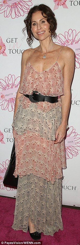 Minnie Driver flaunts a stick-thin figure at LA awards luncheon #dailymail