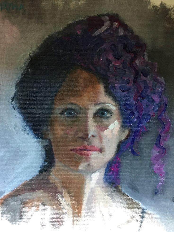 Martha -- by Marie Lardino, oil canvas-- Alla Prima