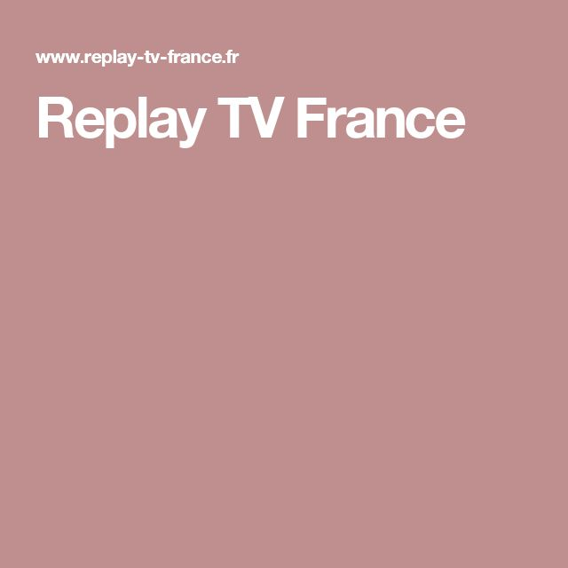 Replay TV France