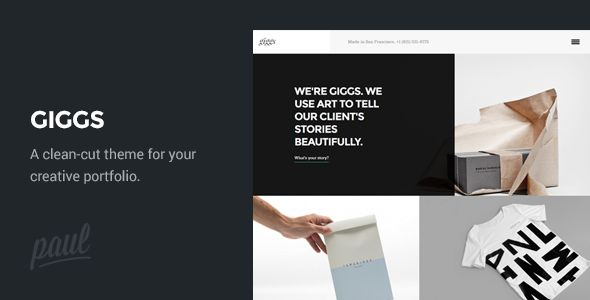 Giggs: Agency / Portfolio WordPress Theme