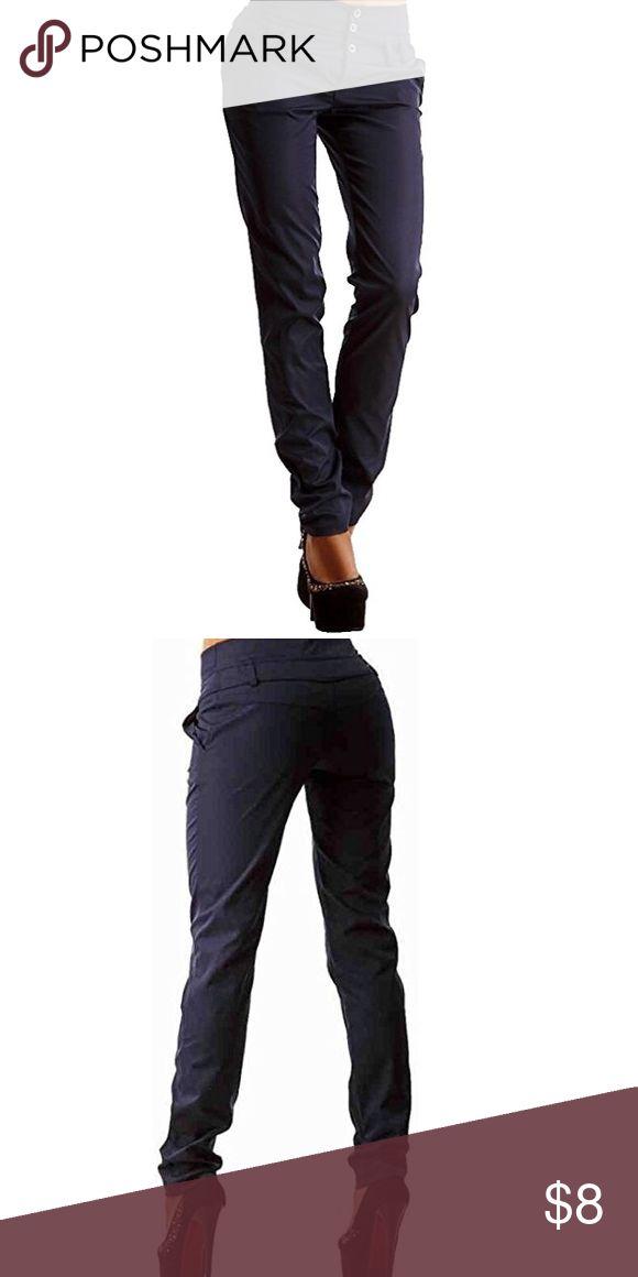 Oberora Women's dress pants Oberora Women's Casual Solid Button Straight Leg Slim Fit Dress Pants Oberora Pants Straight Leg