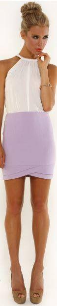 Dilara skirt and white Leslie silk cami