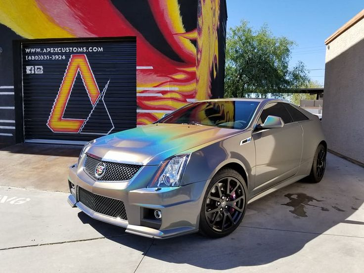 2014 Cadillac Cts V 3m Gloss Psychedelic Vinyl Wrap Apex