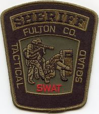 FULTON COUNTY GEORGIA Tactical Squad SWAT SHERIFF  PATCH