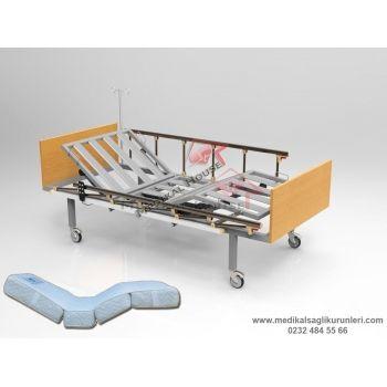 Elektrikli Hasta Karyolası (2 Motorlu - Tabanca Korkuluklu)